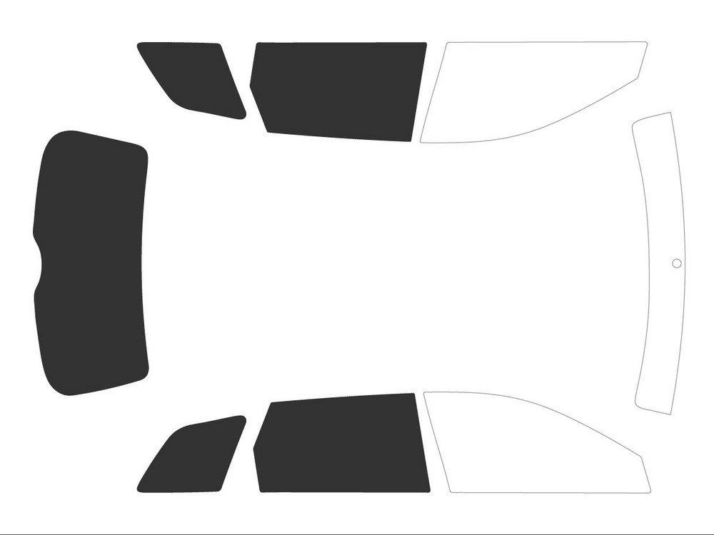 Variance Auto Films Teint/és pour Auto Kit 3//4 Arri/ère Black 05 Noir