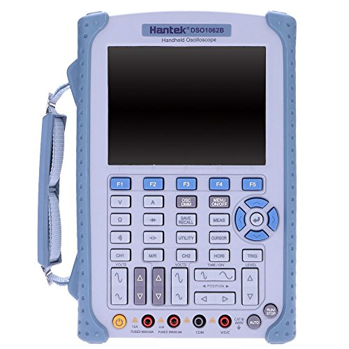 Hantek DSO1062B Handheld Digital Storage Oscilloscope 6000Counts DMM 200/100/60MHz 1GSa/s 2CH 5.6''TFT Color LCD Display by Hantek