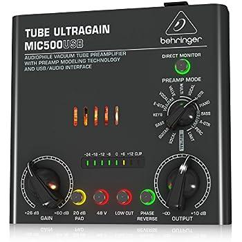 BEHRINGER TUBE ULTRAGAIN MIC500USB