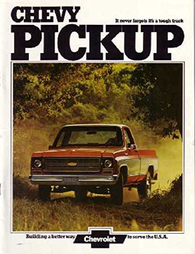 - 1974 Chevrolet Pickup Truck Sales Brochure Literature Book Options Specification