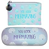 Sass & Belle Mermaid Treasures Coin Purse and Glasses Case Set, Blue