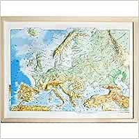 Mapa en relieve de Europa físico: Escala 1:19.000.000: Amazon.es ...