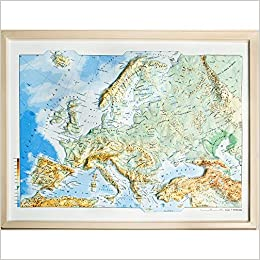 Mapa en relieve de Europa físico: Escala 1:19.000.000: Amazon.es: All 3D Form, S.L.: Libros