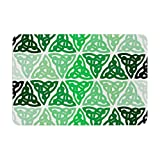 "KESS InHouse ""KESS Original Celtic Knot Green Forest Mint"" Memory Foam Bath Mat, 17 by 24"""