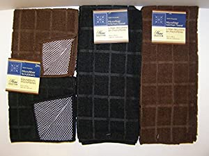 Kitchen Linens by Home Collection Featuring: kitchen towels and dishcloths sets, Pot Holders and oven Mitts (Some sets have Dishcloths & Some also have Dish Drying Mats)