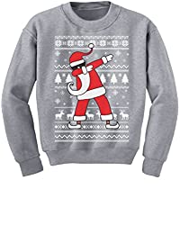 TeeStars - Dabbing Santa Funny Ugly Christmas Party Youth Kids Sweatshirt