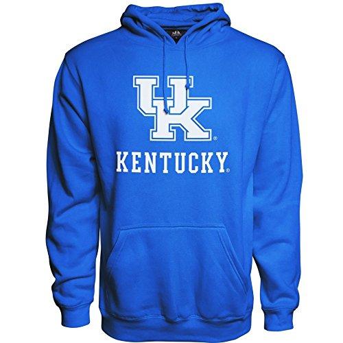(Elite Fan Shop NCAA Men's Kentucky Wildcats Hoodie Sweatshirt Team Color Arch Kentucky Wildcats Royal Small )