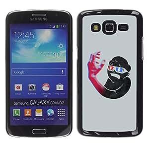Be Good Phone Accessory // Dura Cáscara cubierta Protectora Caso Carcasa Funda de Protección para Samsung Galaxy Grand 2 SM-G7102 SM-G7105 // Funny Vault Boy 3D