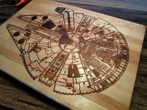 Amazon Star Wars Millennium Falcon Blue Print Prints Diagram