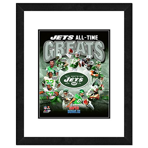 NFL New York Jets Men's All Time Greats Framed Photo, One Size, Multicolor