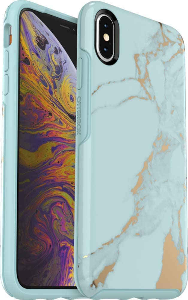 OtterBox Symmetry Series Case for iPhone Xs MAX - Non-Retail Packaging - Teal Marble