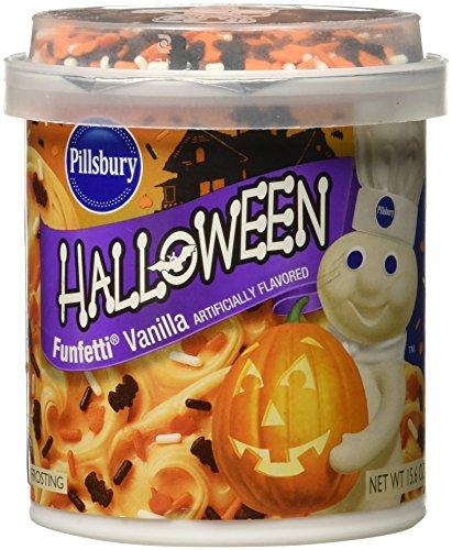 (Pillsbury Halloween Funfettti Frosting Vanilla. 15.6 Ounce (Pack of)