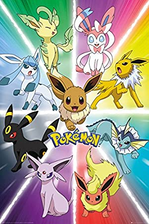picture regarding Pokemon Posters Printable referred to as Pokemon - Television Display/Gaming Poster/Print (Eevee Evolution) (Dimensions: 24 inches x 36 inches)