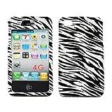For Apple iPhone 4S 4 Black Zebra White Hard Plastic Snap On Case Cover Faceplate