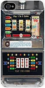 Vintage Slot Machine- Case for the Apple Iphone 5-5s Universal- Hard White Plastic