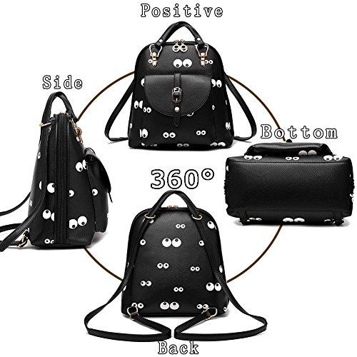 G-AVERIL GA1160-B2 - Bolso mochila  para mujer Black2 Black2