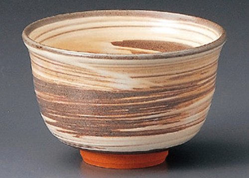 KYOYAKI-BRUSH 4.7inches MATCHA BOWL TOHKI Japanese Pottery by Watou.asia