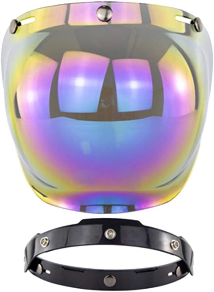 stile vintage per casco da moto con visiera a 3 bottoni su visiera antivento Breale con protezione UV Visiera per casco da moto