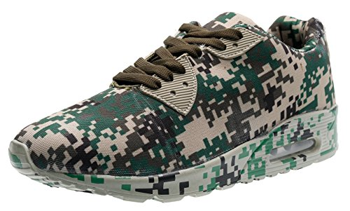 PORTANT Unisex Clearance Mens Daily Walking Workout Shoe Camo Fashion Classic Sneakers Male Treadmill Walking And Tennis Camping Shoes For Gym Workout Army Green, Brown, Black, Gray 8 Us Men