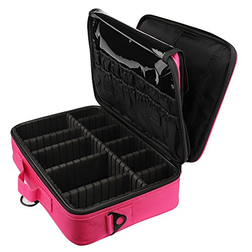 Brush Bag 3 Waterproof Bag Toiletry Yuan Layers Travel Red Capacity Large solid Cosmetic Colors Makeup Compartment 7aYxxvzq