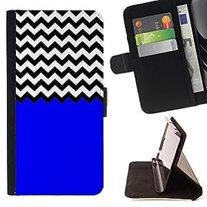 King Case - FOR Samsung Galaxy Note 3 III - The blue style - Prima caja de la PU billetera de cuero con ranuras para tarjetas, efectivo Compartimiento desmontable y correa para la mu?eca