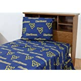 College Covers West Virginia Mountaineers Solid Printed Sheet Set, Full