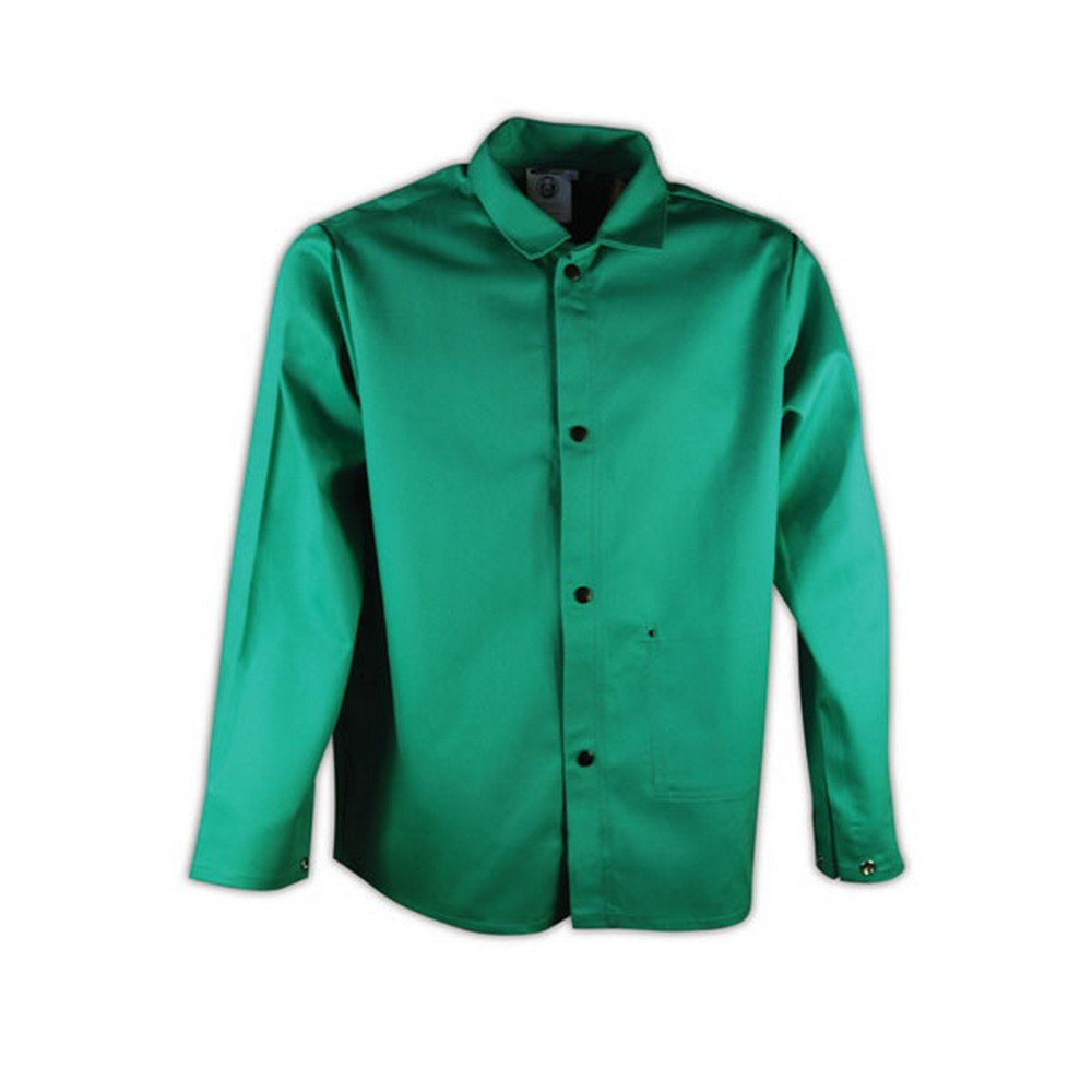 Magid SparkGuard Flame Resistant 12 oz. Cotton Jacket, 30'', Green, Large by Magid Glove & Safety