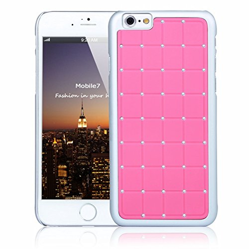 Posh Style Apple Iphone 6 LUXURY CRYSTAL Cross Diamond Pink Case Bling Hard Cover with White Frame For Apple Iphone 6 By G4GADGET®