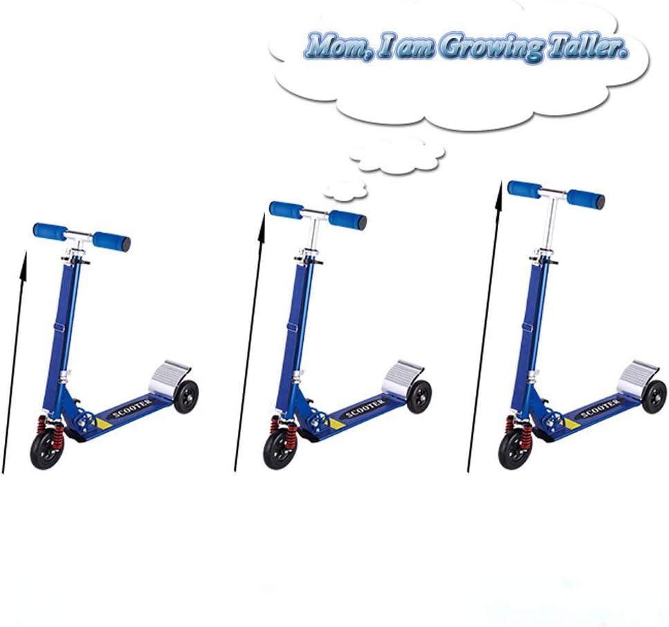 RISILAYS Absorption des Chocs Trottinette Enfant Pliable et R/églable V/élo et V/éhicule avec Lumineux Patinette 3 Roue de PU en Aluminium pour Enfant 2-10 Ans Freestyle
