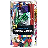 Amscan Big Party Pack Assorted Noisemakers (60 Piece), One Size, Multicolor