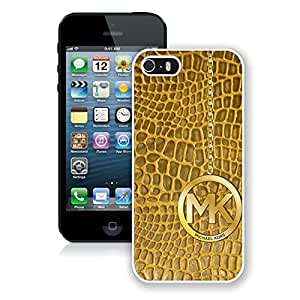 Popular Customize iPhone 5S New Michael Kors Accessories 162 White iPhone 5 5s 5th Cellphone Case Easy Set