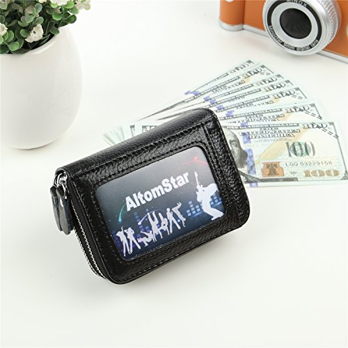 Holder Pocket Wallets Coin 9 with Credit Sapphire 2 Card Credit Black Women for Genuine Card Blue Leather Colors Men xYY6H