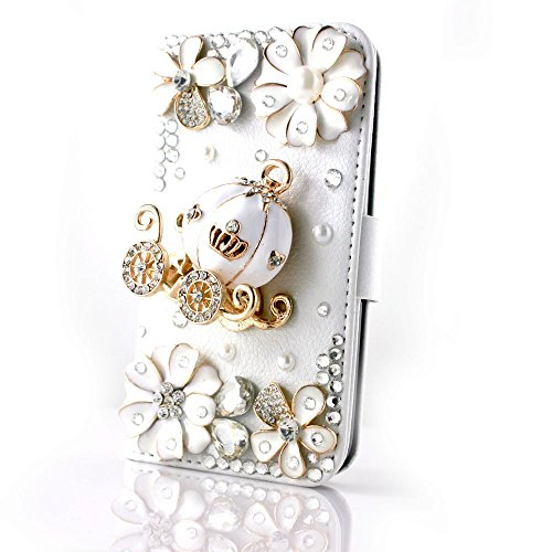 Wellpad Classic design bling leather wallet Credit card stand Case For Nokia lumia N1520 phone(Golden Carriage flowers)
