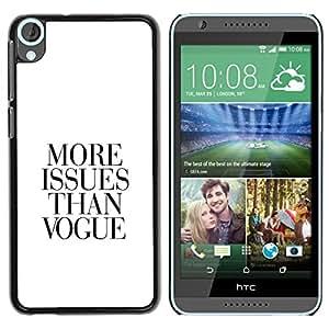 Caucho caso de Shell duro de la cubierta de accesorios de protección BY RAYDREAMMM - HTC Desire 820 - Magazine Qutoe Black White Trouble Life