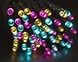 DeVida Pink Aqua Blue and Yellow Multi Colored Solar String Lights, 100 Mini Outdoor Waterproof LED Decor for Home Exterior, Pastel Party Decorations, Baby Shower, Yard Path, Patio