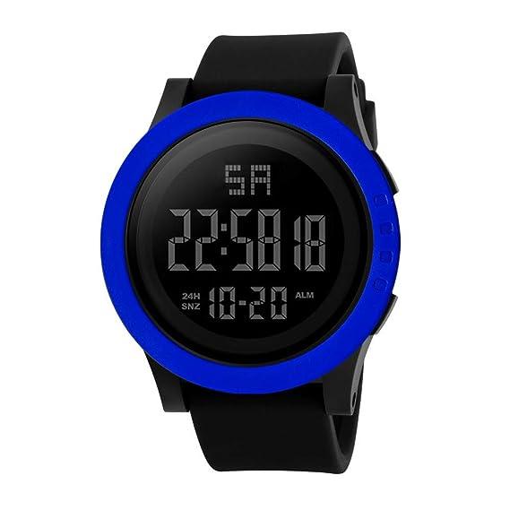 Bestow Los Hombres de Moda LED Impermeable Digital HONHX Reloj Electršnico Relojes de Cuarzo Militar Deportivo de Lujo Fecha(Azul): Amazon.es: Ropa y ...