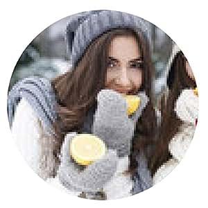 alfombrilla de ratón Comer vitaminas naturales en invierno fortalece nuestra resistencia - ronda - 20cm