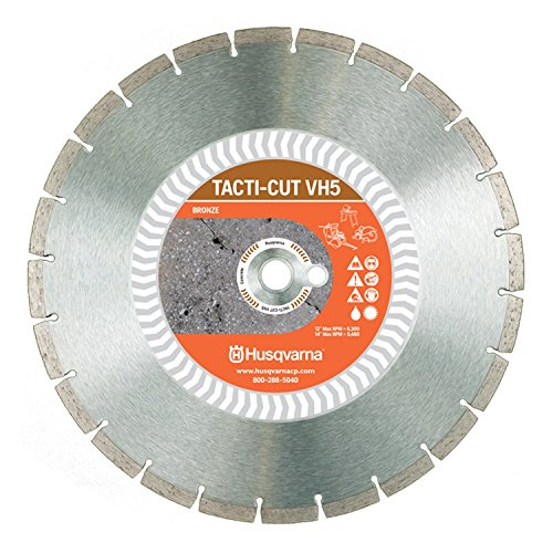 Husqvarna Construction Products 542774463 14 Inch by .118 by 1 Drive Pinhole 20mm B VH5 High Speed Diamond Blade