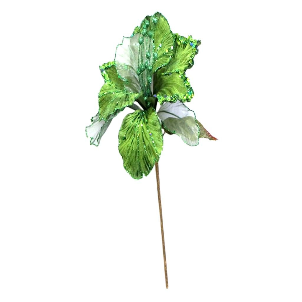 27'' Lime Glitter Amaryllis 7.5'' Flower