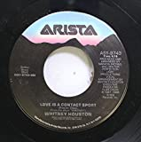 Whitney Huston 45 RPM Love Is A Contact Sport / One Moment In Time