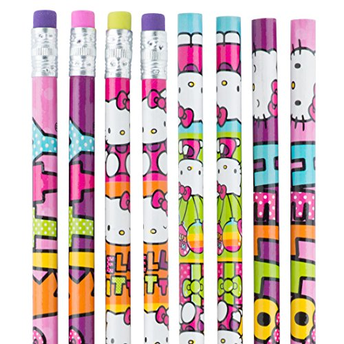 Hello Kitty Rainbow Pencils - Children's School Supplies - 36 per Pack