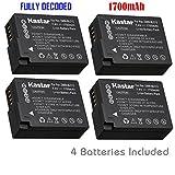 Kastar Battery (4-Pack) for Panasonic DMW-BLC12, DMW-BLC12E, DMW-BLC12PP and DE-A79 work with Panasonic Lumix DMC-FZ200, DMC-FZ1000, DMC-G5, DMC-G6, DMC-GH2 Cameras