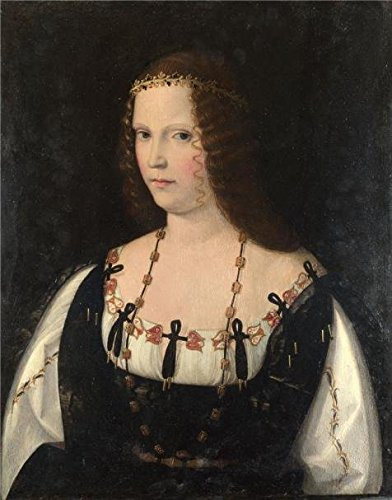 The Perfect Effect Canvas Of Oil Painting 'Bartolomeo Veneto - Portrait Of A Young Lady,about 1500-10' ,size: 12x15 Inch / 30x39 Cm ,this High Quality Art Decorative Prints On Canvas - Glass Clips Veneto