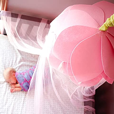 Bed Canopy Tent For Girls | Pink Mosquito Net Curtains | Kids Twin Full or Queen Size and Baby Crib by Tulips and Tiaras