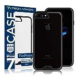 Tech Armor Apple iPhone 7 Plus (5.5-inch) - FlexProtect Frosted Black Resistente a Rayones y Huellas Dactilares...