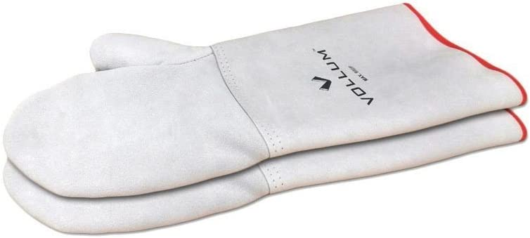 Vollum High-Heat Suede Oven Mitts, 1 Pair (14 Inch, Resistant to 932F)
