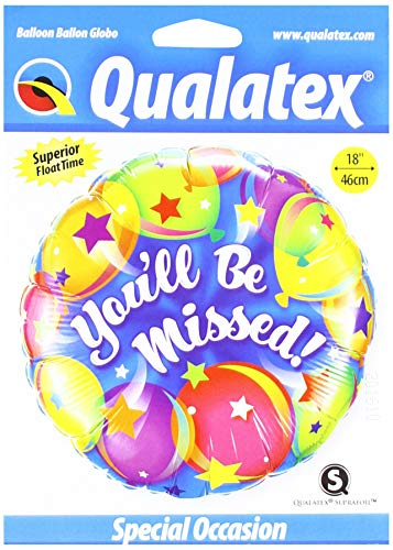 Qualatex Foil 018419 You'll Be You'll Be Missed Balloons, 18