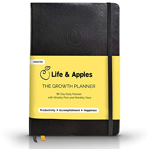 The Growth Planner - Daily Planner Journal for Productivity and Focus - Get Organized and Achieve Your Goals - Undated