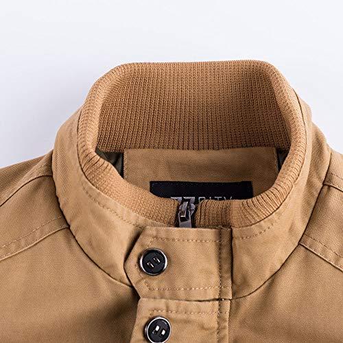 Inverno Di Uomini Uomini Tomatoa Vestiti Tattico Militare Traspirante Degli Kaki Cappotto Outwear Cappotto E7qE5UwxSW