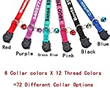 Cat Collar,Personalized Embroidered Nylon Cat ID